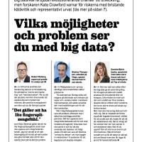 Top om möjligheterna med Big Data i pressen