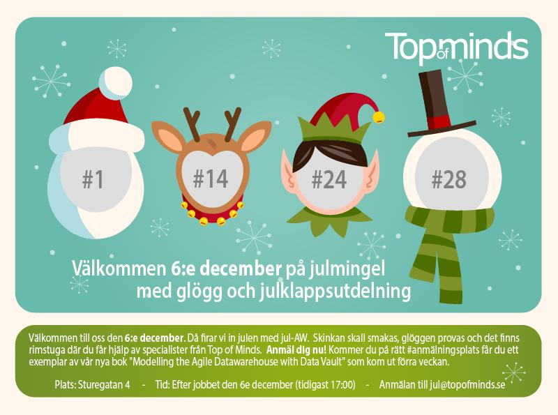 Inbjudan till julmingel med glögg och rimstuga 6:e december